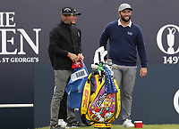 14th July 2021; The Royal St. George's Golf Club, Sandwich, Kent, England; The 149th Open Golf Championship, practice day; Jon Rahm (ESP) gets ready to start his round