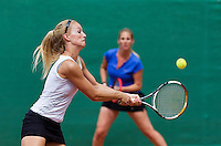 August 13, 2014, Netherlands, Raalte, TV Ramele, Tennis, National Championships, NRTK, Ladies doubles:  Samantha Helderop and  Romana Janshen<br /> Photo: Tennisimages/Henk Koster