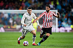 Mateo Kovacic (l) of Real Madrid battles for the ball with Raul Garcia of Athletic Club during their La Liga match between Real Madrid and Athletic Club at the Santiago Bernabeu Stadium on 23 October 2016 in Madrid, Spain. Photo by Diego Gonzalez Souto / Power Sport Images