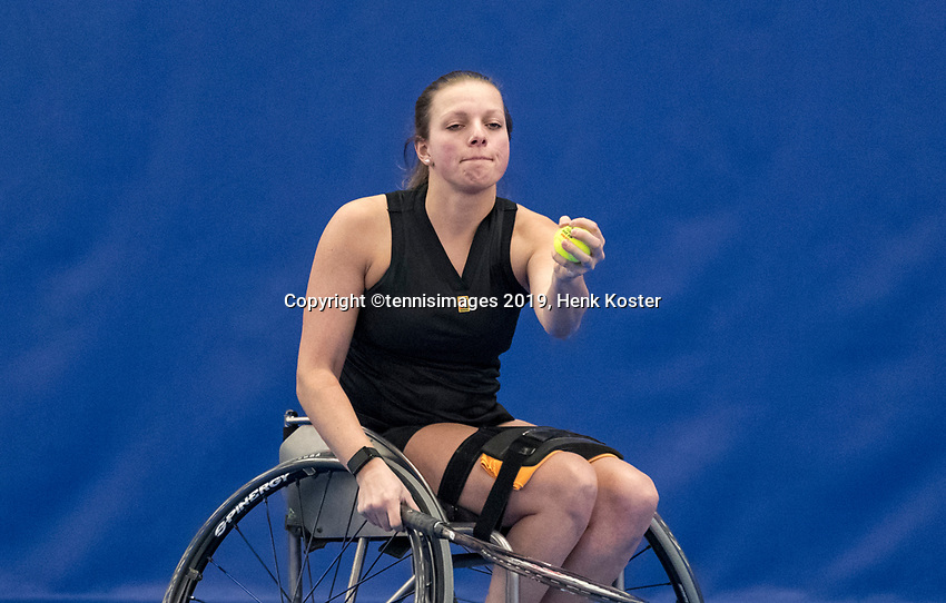 Amstelveen, Netherlands, 8  December, 2020, National Tennis Center, NTC, NKR, National  Indoor Wheelchair Tennis Championships, Women's single: 	<br /> Wendi Schutte (NED)<br /> Photo: Henk Koster/tennisimages.com