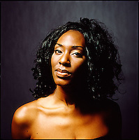 African American woman photographed in studio<br />