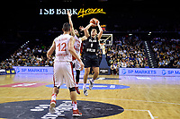 New Zealand Tall Blacks' Derone Raukawa in action during the FIBA World Cup Basketball Qualifier - NZ Tall Blacks v Syria at TSB Bank Arena, Wellington, New Zealand on Sunday 2 2018. <br /> Photo by Masanori Udagawa. <br /> www.photowellington.photoshelter.com