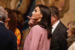 Queen Letizia of Spain visits 'La Otra Corte. Mujeres de la Casa de Austria en los Monasterios Reales de las Descalzas y la Encarnacion' exhibition at the Royal Palace. December 17,2019. (ALTERPHOTOS/Pool)