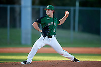 Dartmouth Big Green relief pitcher Max Hunter (19) delivers a pitch during a game against the Northeastern Huskies on March 3, 2018 at North Charlotte Regional Park in Port Charlotte, Florida.  Northeastern defeated Dartmouth 10-8.  (Mike Janes/Four Seam Images)