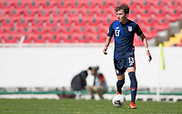 GUADALAJARA, MEXICO - MARCH 18: Sam Vines #13 of the United States moves with the ball during a game between Costa Rica and USMNT U-23 at Estadio Jalisco on March 18, 2021 in Guadalajara, Mexico.