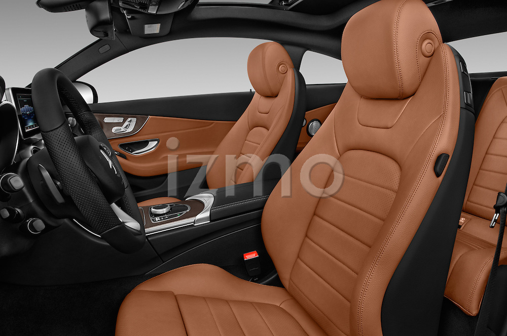 Front seat view of 2017 Mercedes Benz C-Class C300 2 Door Coupe Front Seat  car photos