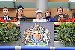Her Royal Majesty Queen Elizabeth II was in attendance to see Frankel win the group 1 Champion Stakes for three year olds and upward on October 20, 2012 at Ascot Racecourse in Ascot, Berkshire, United Kingdom.  (Bob Mayberger/Eclipse Sportswire)