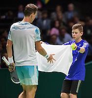 Februari 15, 2015, Netherlands, Rotterdam, Ahoy, ABN AMRO World Tennis Tournament, Tomas Berdych (CZE)<br /> Photo: Tennisimages/Henk Koster