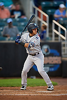 Staten Island Yankees shortstop Eduardo Torrealba (13) at bat during a game against the Aberdeen IronBirds on August 23, 2018 at Leidos Field at Ripken Stadium in Aberdeen, Maryland.  Aberdeen defeated Staten Island 6-2.  (Mike Janes/Four Seam Images)