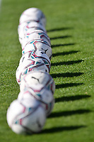 A serie of Puma balls is seen on the pitch prior to the Women Italy cup round of 8 second leg match between AS Roma and Florentia S.G. at stadio delle tre fontane, Roma, February 14, 2021. Photo Andrea Staccioli / Insidefoto