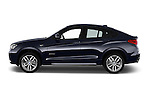Car Driver side profile view of a 2015 BMW X4 M sportpakket 5 Door SUV 2WD Side View