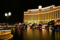 The Bellagio Hotel & Casino at night, Las Vegas, Clark County, N