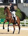April 24, 2014: Park Trader and Bruce Davidson Jr. compete in Dressage at the Rolex Three Day Event in Lexington, KY at the Kentucky Horse Park.  Candice Chavez/ESW/CSM