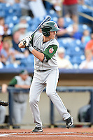Fort Wayne TinCaps shortstop Trea Turner (5) at bat during a game against the Lake County Captains on August 21, 2014 at Classic Park in Eastlake, Ohio.  Lake County defeated Fort Wayne 7-8.  (Mike Janes/Four Seam Images)