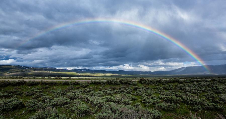 Rainbow over Antelope flats, Grand Teton National Park, Wyoming