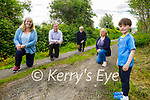 Concerned locals standing at country road L-11047-0 which is in urgent need of resurfacing which runs along the Farranfore to Tralee N22 road, in Farranfore. L to r: Christine Kelly, Cllr Fionnán Fitzgerald, Jerome Crowley, Christine Kelly Moynihan and Oisin Moynihan,