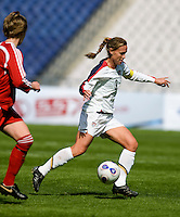 Christie Rampone. The U.S. defeated Canada, 4-0, during the Four Nations Tournament in Guangzhou, China on January 16, 2008.