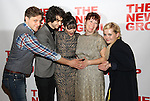 """Joe Tippett, Alex Wolff, Isabelle Fuhrman, Erica Schmidt and Abigail Breslin attends the Opening Night of The New Group World Premiere of """"All The Fine Boys"""" at the The Green Fig Urban Eatery on March 1, 2017 in New York City."""