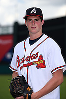 GCL Braves pitcher Garrett Fulenchek (40) poses for a photo after a game against the GCL Blue Jays on June 27, 2014 at ESPN Wide World of Sports in Orlando, Florida.  GCL Braves defeated GCL Blue Jays 10-9.  (Mike Janes/Four Seam Images)