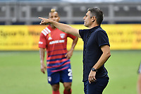 KANSAS CITY, KS - SEPTEMBER 02: Luchi Gonzalez Head Coach of FC Dallas during a game between FC Dallas and Sporting Kansas City at Children's Mercy Park on September 02, 2020 in Kansas City, Kansas.