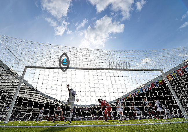 July 25, 2012..France's Elise Bussaglia (15) defends. USA vs France Football match during 2012 Olympic Games at Hampden Park in Glasgow, England. USA defeat France 4-2 after conceding two goals in the first half of the match...(Credit Image: © Mo Khursheed/TFV Media)