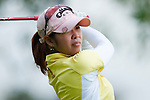 CHON BURI, THAILAND - FEBRUARY 18:  Pornanong Phatlum of Thailand tees off on the 3rd hole during day two of the LPGA Thailand at Siam Country Club on February 18, 2011 in Chon Buri, Thailand.  Photo by Victor Fraile / The Power of Sport Images