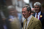 © Joel Goodman - 07973 332324 . 24/04/2014 . Knutsford , UK . UKIP leader NIGEL FARAGE on a walkabout tour of Knutsford on the European election campaign trail . Farage has come under fire in recent days over a controversial UKIP billboard campaign . Photo credit : Joel Goodman