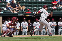 31 May 2008: Stanford Cardinal Joey August during Stanford's 5-1 win against the Arkansas Razorbacks in game 3 of the NCAA Stanford Regional at Sunken Diamond in Stanford, CA.