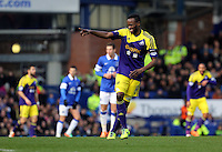 Pictured: Roland Lamah of Swansea.  Sunday 16 February 2014<br /> Re: FA Cup, Everton v Swansea City FC at Goodison Park, Liverpool, UK.
