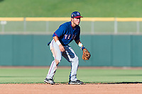 AZL Rangers shortstop Frainyer Chavez (60) during an Arizona League game against the AZL Giants Black at Scottsdale Stadium on August 4, 2018 in Scottsdale, Arizona. The AZL Giants Black defeated the AZL Rangers by a score of 3-2 in the first game of a doubleheader. (Zachary Lucy/Four Seam Images)