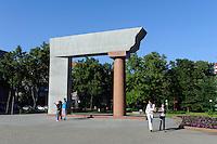 Denkmal auf der Tiltu gatve in Klaipeda, Litauen, Europa