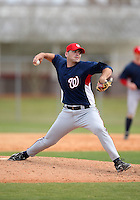 March 22, 2010:  Pitcher Zech Zinicola of the Washington Nationals organization during Spring Training at the Carl Barger Training Complex in Melbourne, FL.  Photo By Mike Janes/Four Seam Images