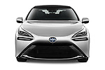 Car photography straight front view of a 2021 Toyota Mirai Limited 4 Door Sedan Front View