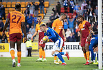 St Johnstone v Galatasaray…12.08.21  McDiarmid Park Europa League Qualifier<br />Reece Devine heads back to the centre with the ball after Michael O'Halloran scored saints second goal<br />Picture by Graeme Hart.<br />Copyright Perthshire Picture Agency<br />Tel: 01738 623350  Mobile: 07990 594431