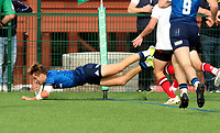 Saturday 5th September 2021<br /> <br /> Jules Fenelon scores during U18 Schools inter-pro between Ulster Rugby and Leinster at Newforge Country Club, Belfast, Northern Ireland. Photo by John Dickson/Dicksondigital