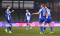 9th January 2021; Memorial Stadium, Bristol, England; English FA Cup Football, Bristol Rovers versus Sheffield United; Alfie Kilgour of Bristol Rovers celebrates with his team after scoring in the 21st minute for 1-1