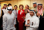 President Mary McAleese, pictured here with her husband Dr. Martin McAleese and students at the official opening by the President of the Royal College of Surgeons in Ireland Medical University of Bahrain campus. The University will house some 2,000 students  and cost EUR49 million to build, which has been fully funded by the RCSI. Pic. Robbie Reynolds.