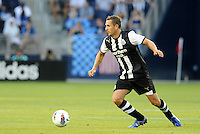 Newcastle United forward Peter Lovenkrands in action... Sporting Kansas City and Newcastle United played to a 0-0 tie in an international friendly at LIVESTRONG Sporting Park, Kansas City, Kansas.