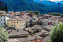 """SAGRA DEL """"PESCE E PATATE"""" 2011, BARGA, ITALY<br /> <br /> GENERAL VIEW OF THE OLD TOWN AREA OF BARGA."""