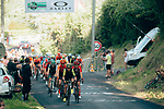 The peloton in action during La Course 2019 By Le Tour running 121km from Pau to Pau, France. 19th July 2019.<br /> Picture: ASO/Thomas Maheux | Cyclefile<br /> All photos usage must carry mandatory copyright credit (© Cyclefile | ASO/Thomas Maheux)