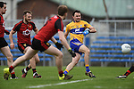 David Tubridy of  Clare in action against Down during their Division 2, Round 2 National League game at Cusack Park. Photograph by John Kelly.