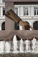 Norwegen, Oslo, Brunnen Christian IVs hanske auf dem Christiania Torv