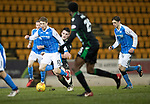 St Johnstone v Hibs…16.03.18…  McDiarmid Park    SPFL<br />David Wotherspoon is tripped by John McGinn<br />Picture by Graeme Hart. <br />Copyright Perthshire Picture Agency<br />Tel: 01738 623350  Mobile: 07990 594431