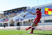 20200307  Lagos , Portugal : corner by Danish forward Emma Snerle (2) pictured during the female football game between the national teams of Sweden and Denmark on the second matchday of the Algarve Cup 2020 , a prestigious friendly womensoccer tournament in Portugal , on saturday 7 th March 2020 in Lagos , Portugal . PHOTO SPORTPIX.BE | STIJN AUDOOREN