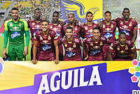 IBAGUÉ- COLOMBIA,20-07-2019:Formación del Deportes Tolima ante el América de Cali.Acción de juego entre los equipos  del Deportes Tolima y el América de Call durante  partido por la fecha 2 de la Liga Águila II 2019 jugado en el estadio Manuel Murillo Toro de la ciudad de Ibagué. /Team of Deportes Tolima  agasnt of America of Cali.Action game between teams  Deportes Tolima and America de Cali during the 2 match for  the Liga Aguila I I 2019 played at the Manuel Murillo Toro stadium in Ibague city. Photo: VizzorImage / Juan Carlos Escobar  / Contribuidor