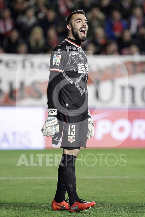 Rayo Vallecano's Juan Carlos Martin during La Liga match. March 3,2016. (ALTERPHOTOS/Acero)