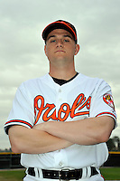 Feb 27, 2010; Tampa, FL, USA; Baltimore Orioles  pitcher Chorye Spoone (62) during  photoday at Ed Smith Stadium. Mandatory Credit: Tomasso De Rosa