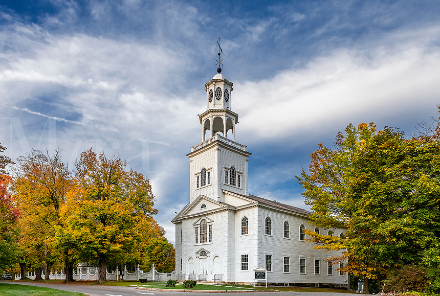 Charming Old First Church, Bennington, Vermont, USA.