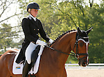 LEXINGTON, KY - APRIL 28: #14 Landioso and rider Mackenna Shea in the warm up ring before their Dressage test in the Rolex Three Day Event, Dressage Day 1, at the Kentucky Horse Park in Lexington, KY.  April 28, 2016 in Lexington, Kentucky. (Photo by Candice Chavez/Eclipse Sportswire/Getty Images)
