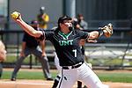 Denton TX, April 25, 2021, University of North Texas Mean Green Softball vs Southern Mississippi at Lovelace Stadium in Denton Texas on April 25, 2021.